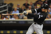 Designated hitter Justin Morneau #44 of the Chicago White Sox hits a single during the fifth inning against the Minnesota Twins at Target Field on September 1, 2016 in Minneapolis, Minnesota.
