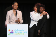 (L-R) Garcelle Beauvais, Jurnee Smollett-Bell and Rutina Wesley speak at the Children's Defense Fund California's 28th Annual Beat The Odds Awards at Skirball Cultural Center on December 6, 2018 in Los Angeles, California.