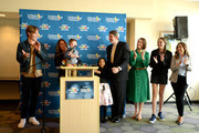 Alex Carter, Kairi, Chris Pine, Paul S. Viviano, Grace, Elliot, and Dawn Wilcox attend the Children's Hospital Los Angeles fourth annual Make March Matter fundraising campaign kick-off event at Children's Hospital Los Angeles on March 04, 2019 in Los Angeles, California.