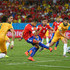 Alexis Sanchez Photos - Alexis Sanchez of Chile shoots and scores his teams first goal during the 2014 FIFA World Cup Brazil Group B match between Chile and Australia at Arena Pantanal on June 13, 2014 in Cuiaba, Brazil. - Chile v Australia: Group B