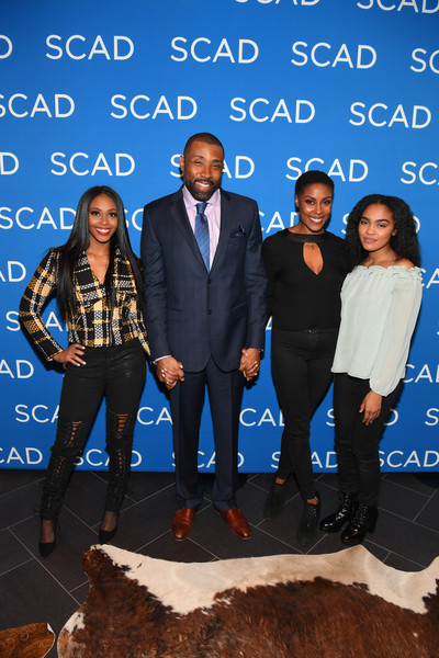SCAD aTVfest 2018 -  'Black Lightning' [social group,event,formal wear,suit,fun,outerwear,family pictures,tuxedo,actors,nafessa williams,cress williams,china anne mcclain,christine adams,black lightning,q a,georgia,scad atvfest,screening]