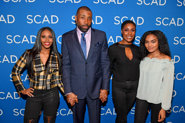 SCAD aTVfest 2018 -  'Black Lightning' [event,suit,formal wear,premiere,family pictures,actors,nafessa williams,cress williams,china anne mcclain,christine adams,black lightning,q a,georgia,scad atvfest,screening]