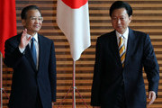 Chinese Premier Wen Jiabao (L) is escorted by Japanese Prime Minister Yukio Hatoyama (R) at Hatoyama's official residence on May 31, 2010 in Tokyo, Japan. Wen is in Japan to discuss the bilateral relationship after East Asia three nations summit held in Jeju, South Korea.