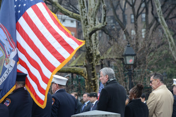 Chirlane McCray Funeral For FDNY Who Died In Military Helicopter Crash
