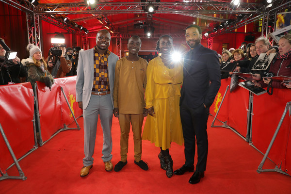 'The Boy Who Harnessed The Wind' Premiere - 69th Berlinale International Film Festival [the boy who harnessed the wind,film,red carpet,event,carpet,flooring,chiwetel ejiofor,william kamkwamba,aissa maiga,maxwell simba,l-r,premiere,berlinale international film festival,screening]