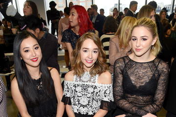 Chloe Lukasiak Tadashi Shoji - Front Row - February 2018 - New York Fashion Week: The Shows