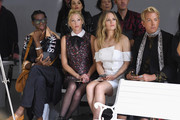 Miss J. Alexander, Julie Mintz, Danielle Savre and Derek Warburton attend the Chocheng front row during New York Fashion Week: The Shows at Gallery II at Spring Studios on September 10, 2018 in New York City.