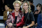 Derek Warburton and Lady Victoria Hervey attend the Chocheng front row during New York Fashion Week: The Shows at Gallery II at Spring Studios on September 09, 2019 in New York City.