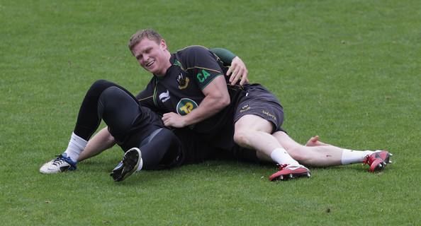 Northampton Saints Training and Press Conference