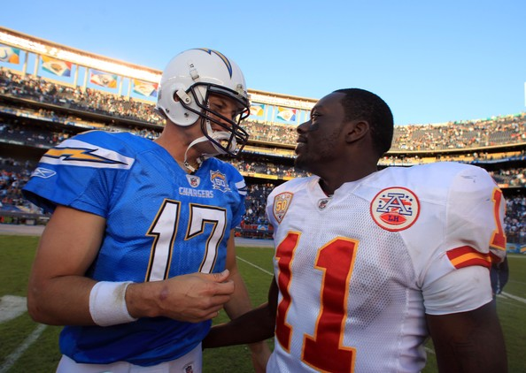 Kansas City Chiefs v San Diego Chargers [team sport,sports gear,helmet,football gear,football equipment,gridiron football,american football,team,player,sports,philip rivers,chris chambers,qualcomm stadium,san diego,california,san diego chargers,kansas city chiefs,win]