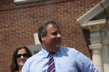 Chris Christie Mary Pat Foster Chris Christie Discusses the Hurricane Sandy Relief Fund