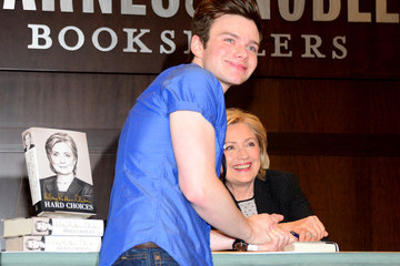 Chris Colfer Hillary Clinton's Book Signing Event