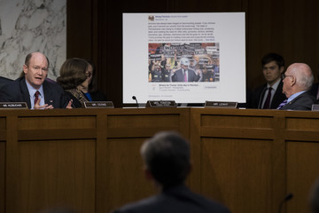 Chris Coons Facebook, Google, and Twitter Executives Testify Before Congress on Russian Disinformation