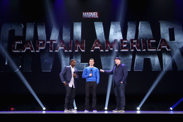 Chris Evans Anthony Mackie 'Worlds, Galaxies, And Universes: Live Action At The Walt Disney Studios Presentation At Disney's D23 EXPO 2015
