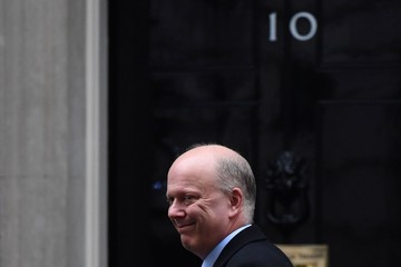 Chris Grayling Weekly Cabinet Meeting at 10 Downing Street
