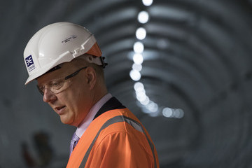 Chris Grayling Crossrail Project Reaches New Milestone With Completion of Elizabeth Line Track