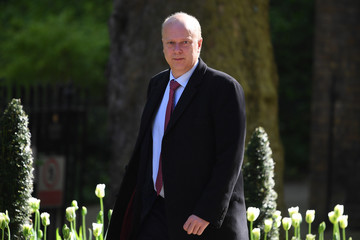 Chris Grayling UK Government Ministers Attend First Cabinet After Re-shuffle