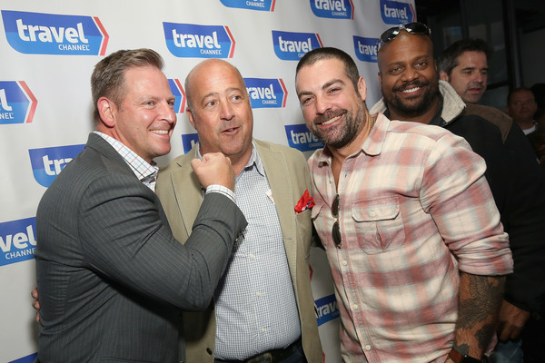 Top Dog - A NY Hot Dog Competition Hosted by Andrew Zimmern [event,facial hair,premiere,top dog,part,l-r,ny hot dog competition,delta air lines,andrew zimmern,jason cameron,chris grundy,anthony carrino,local]
