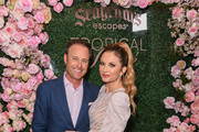 Chris Harrison and Lauren Zima attend Chris Harrison's Seagram's Tropical Rosè launch party on March 11, 2020 in Los Angeles, California.