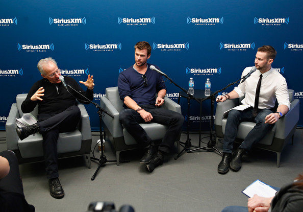 Chris Hemsworth - Chris Hemsworth and Michael Mann at the SiriusXM Studios