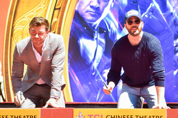 "Marvel Studios' ""Avengers: Endgame"" Cast Place Their Hand Prints In Cement At TCL Chinese Theatre IMAX Forecourt"