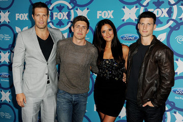 Chris Lowell Geoff Stults Arrivals at Fox Fall Eco-Casino Party