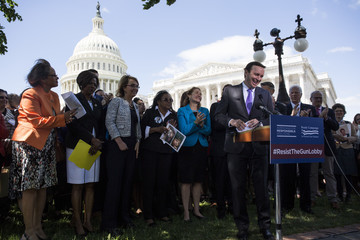 Chris Murphy Congressional Democrats and Gun Safety Advocates Holds News Conference