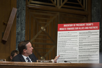 Chris Murphy Secretary Of State Mike Pompeo Testifies To Senate Appropriations Committee In Dept.'s Budget