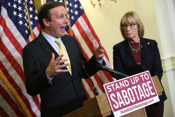 Chris Murphy Senate Democrats Hold News Conference on Trump's 'Sabotage' of ACA