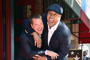 Actors Chris O'Donnell and LL Cool J attend a ceremony honoring Chris O'Donnell with the 2544th Star on Hollywood Walk Of Fame on March 5, 2015 in Hollywood, California.
