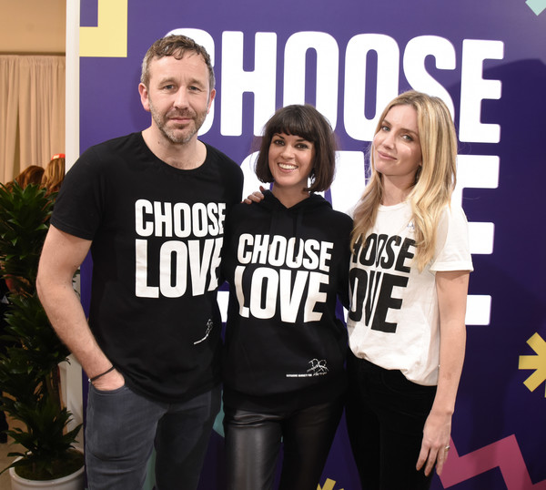 Choose Love Launches In Los Angeles On Giving Tuesday [social group,t-shirt,youth,team,font,event,top,annabelle wallis,dawn oporter,chris odowd,love launches,los angeles,california,choose love launches]
