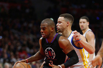 Chris Paul Stephen Curry Golden State Warriors v Los Angeles Clippers