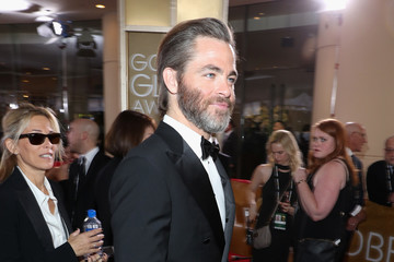Chris Pine FIJI Water at the 74th Annual Golden Globe Awards