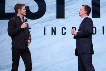 Chris Pine 'Worlds, Galaxies, And Universes: Live Action At The Walt Disney Studios Presentation At Disney's D23 EXPO 2015