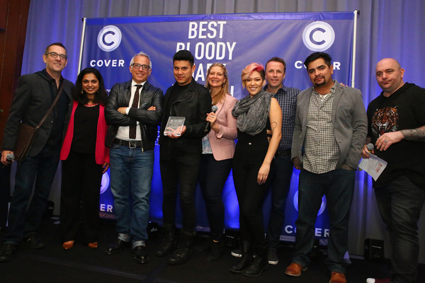Best Bloody Mary Brunch Presented by Velocity [event,product,team,community,award,competition,company,award ceremony,performance,brand,velocity,l-r,food,bloody mary brunch presented,best bloody mary brunch,maneet chauhan,ted allen,nelson lemus,geoffrey zakarian,scott conant]