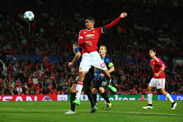 Chris Smalling Manchester United v Club Brugge - UEFA Champions League: Qualifying Round Play Off First Leg