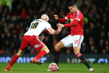 Chris Smalling Manchester United v Sheffield United - The Emirates FA Cup Third Round
