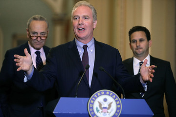 Chris Van Hollen Senate Lawmakers Speak to the Media After Their Weekly Policy Luncheons