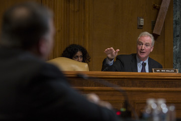 Chris Van Hollen Secretary Of State Mike Pompeo Testifies To Senate Appropriations Committee In Dept.'s Budget