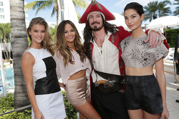 Chrissy Teigen Nina Agdal Sports Illustrated Cover Models Hang with Captain Morgan in Miami