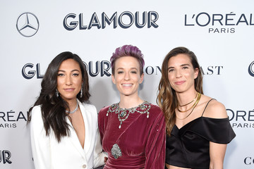 Christen Press Tobin Heather 2019 Glamour Women Of The Year Awards - Arrivals And Cocktail