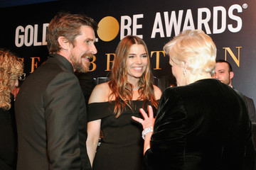Christian Bale Sibi Bale Official Viewing And After Party Of The Golden Globe Awards Hosted By The Hollywood Foreign Press Association