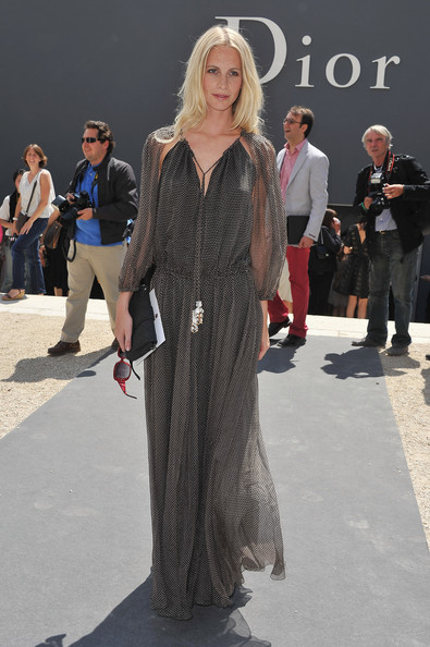 Poppy Delevigne attends the Christian Dior Haute Couture Fall/Winter 2011/2012 show as part of Paris Fashion Week at Musee Rodin on July 4, 2011 in Paris, France.