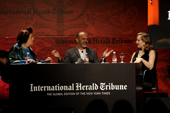 International Herald Tribune's Luxury Business Conference - Sao Paulo 2011 - Day 1 [event,news conference,convention,academic conference,speech,media,conversation,public speaking,spokesperson,talent show,christian louboutin,charlotte dellal,suzy menkes,sao paulo,brazil,hotel unique,international herald tribune,luxury business conference]