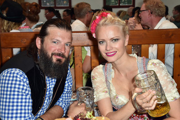 Christian Moestl Celebrities Hang out at Oktoberfest 2015 - Day 1