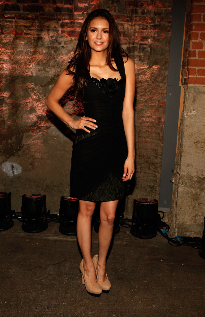 Nina Dobrev Photos Photos Christian Siriano Backstage