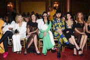 (L-R) Whoopi Goldberg, Meg Ryan, Molly Shannon, Cardi B, Brad Walsh, Jaimie Alexander and Sarah Rafferty attend the Christian Siriano fashion show during New York Fashion Week at Grand Lodge on February 10, 2018 in New York City.