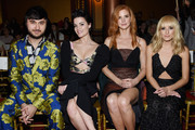 (L-R) Brad Walsh, Jaimie Alexander, Sarah Rafferty and Nastia Liukin attend the Christian Siriano fashion show during New York Fashion Week at Grand Lodge on February 10, 2018 in New York City.
