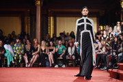A model walks the runway at the Christian Siriano fashion show during New York Fashion Week at Grand Lodge on February 10, 2018 in New York City.