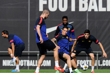 Christian Tello FC Barcelona Training Session